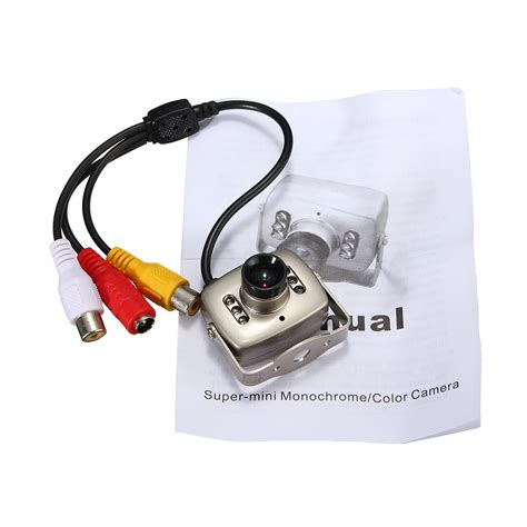 Cctv Mini surveillance cameras 6 led mini wired infrared cmos cctv security color