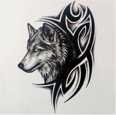 tattoo flash wolf tattoo sticker men women wolf tattoo flash tattoo fashion