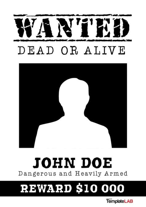 black and white wanted poster template 29 free wanted poster templates fbi and west