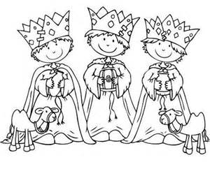 Dibujo Para Colorear Tres Reyes Magos Ni&241os sketch template
