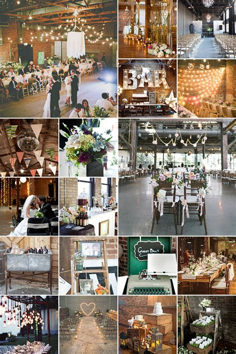 industrial chic wedding theme