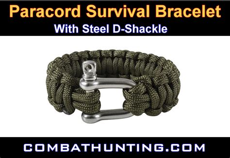 paracord bracelet with d shackle od