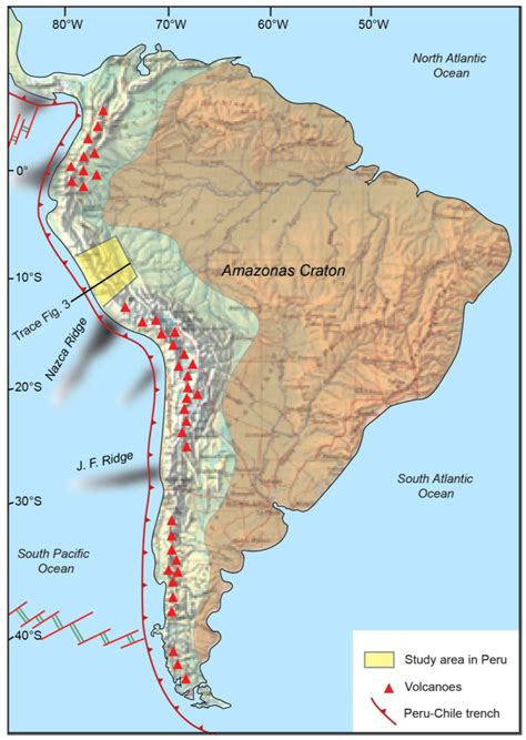 south america map andes andes of south america map