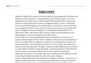 Happiness Essays by Money Can Buy Happiness Essay