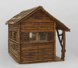 early 20th c american rustic miniature log cabin at 1stdibs