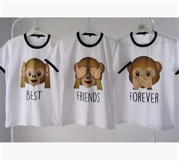 el trio best friens forever pinterest best friends 220 231 l 252 bff t shırt kombini