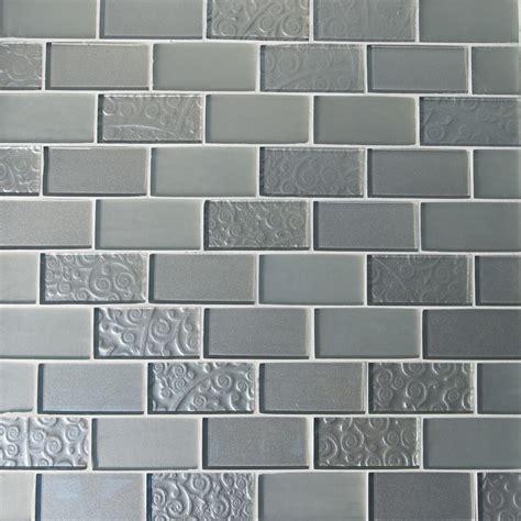 brick pattern mosaic tile gl stone tile brick pattern glass mosaics silver and