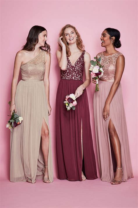 chagne colored bridesmaid dresses mismatched bridesmaid dress styles colors david s bridal
