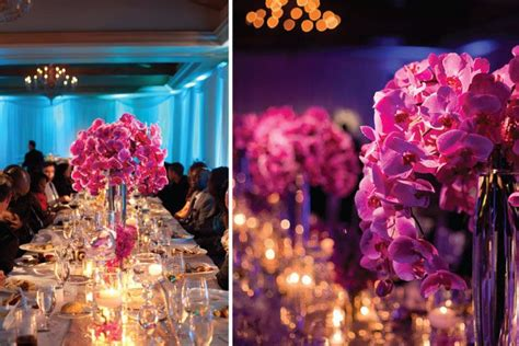 white fuschia chic decor phalaenopsis wedding fuchsia pink magenta wedding