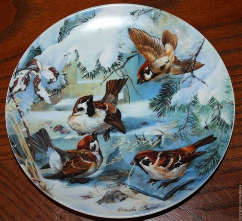 Handmade Birds Bandc - collectible original plates by ursula band quot birds in