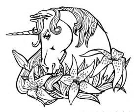 unicorn fantasy myth mythical mystical legend coloring pages colouring detailed advanced