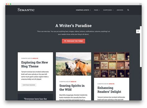 blog layout enfold theme 20 best pinterest style wordpress themes 2017 colorlib