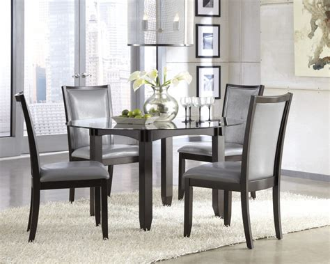 furniture chareful gray dining room sets with gray paint