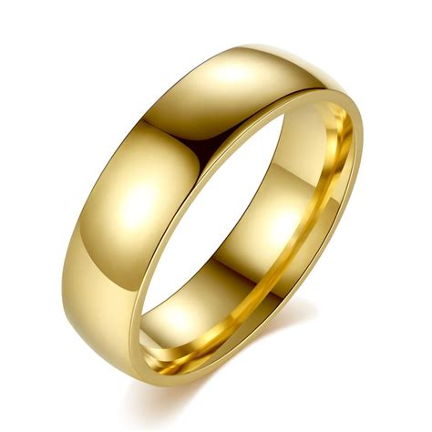 Gold Rings For by Stainless Steel Golden Ring For Fashion Jewelry