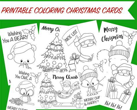 printable christmas coloring postcards merry memories christmas printable bundle wunder mom