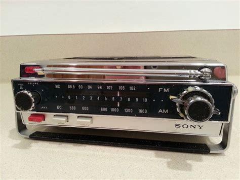 transistor vehicle details about vintage sony model 7f 74w am fm 10 transistor portable car radio radios