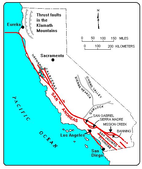 california map earthquake faults untitled document www moreno valley ca us