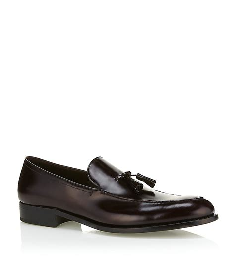 loafers in leather ermenegildo zegna leather loafer in brown for lyst