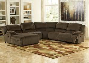 Sectional Sofa With Chaise And Recliner Furniture World Nw Toletta Chocolate Left Facing Chaise End Reclining Sectional