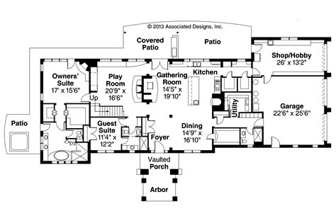 Mediterranean Style Floor Plans Mediterranean House Plans Vercelli 30 491 Associated