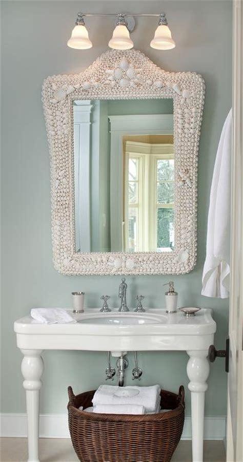 shell bathroom mirror parisian pedestal sink cottage bathroom kristin