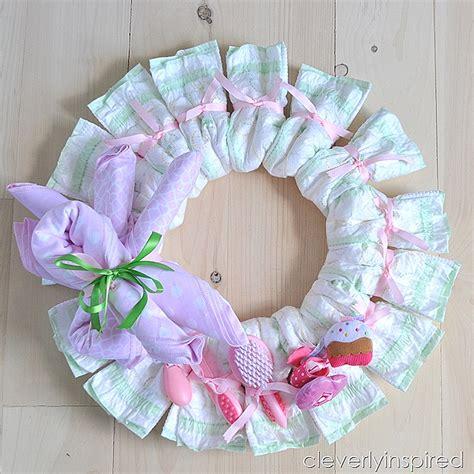 Passion Party Decoration Ideas Diy Diaper Wreath Diy Baby Shower Decoration