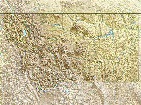 usa montana map file usa montana relief location map jpg
