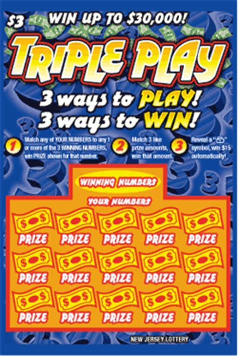 New Jersey Lottery Instant Win Games - triple play