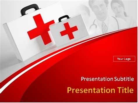 Download First Aid Kits Powerpoint Template Aid Powerpoint Slides