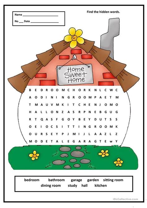 house search 3 free esl house wordsearch worksheets
