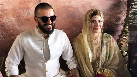 hamza abbasi  naimal khawar    happily married