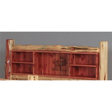 cedar headboard double side rail with spindles woodburn book shelf headboard