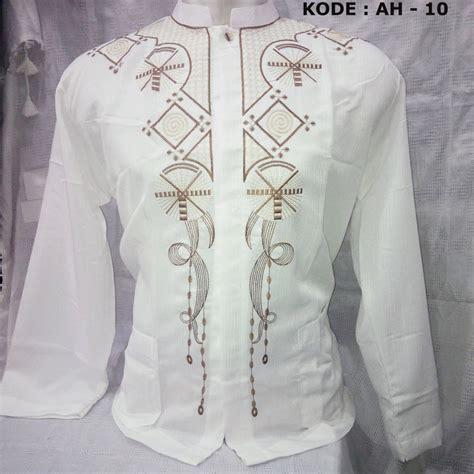 Baju Koko Fayruuz 07 baju koko putih lengan panjang bordir busanamuslimpria