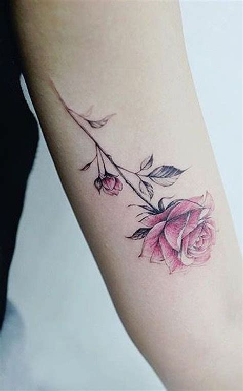 girl rose tattoos 30 simple and small flower tattoos ideas for