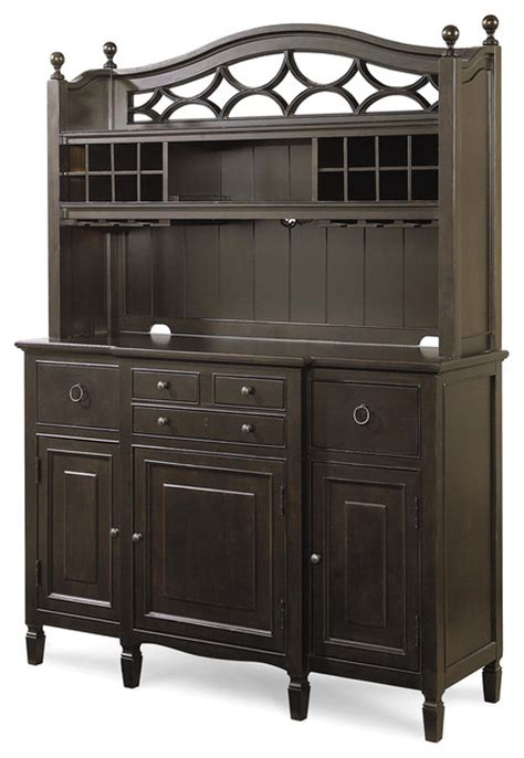Kitchen Buffet And Hutch by Country Maple Kitchen Buffet With Bar Hutch Traditional
