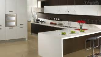modern shaped kitchen decorating
