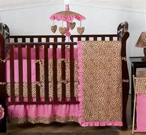 Cheetah Print Crib Set by Unique Pink Cheetah Animal Print Discount Designer 9p Baby