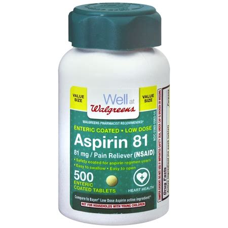 aspirin dosage walgreens aspirin low dose 81 mg tablets walgreens