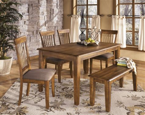 dining room table with bench and chairs black distressed wooden dining table with single bench