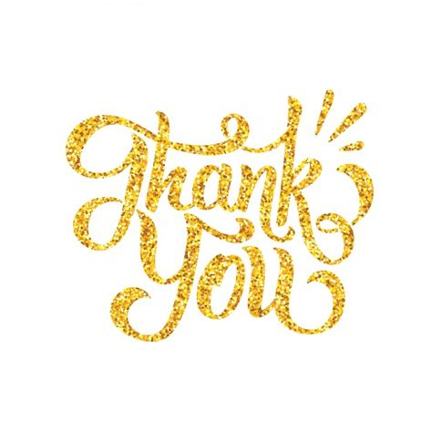 Thank You Letter Design golden letters thank you design vector free