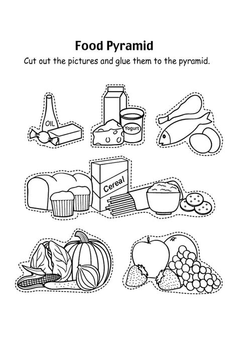 food coloring page pdf 25 best ideas about food pyramid kids on pinterest food