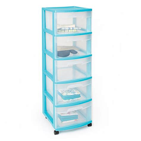 Sterilite 5 Drawer Storage Cart by View Sterilite 174 5 Drawer Plastic Storage Carts Deals At