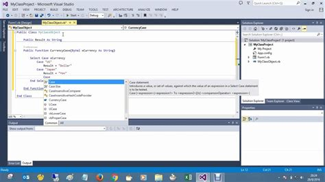 tutorial visual studio 2013 visual studio 2013 tutorial for beginners select case
