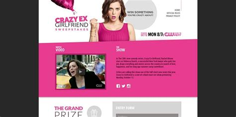 Samsung Tv Giveaway Today Show - crazyexsweepstakes com cw crazy ex girlfriend sweepstakes