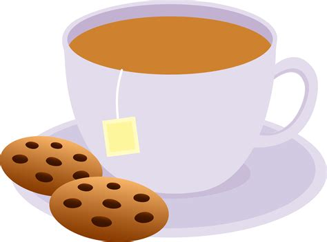 Funny Coffee Mugs by Cup Of Tea With Chocolate Chip Cookies Free Clip Art
