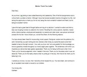 thank you letter to mentor 9 free word excel pdf