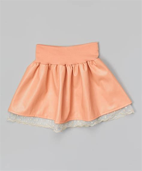 loving this blush faux leather skirt toddler on