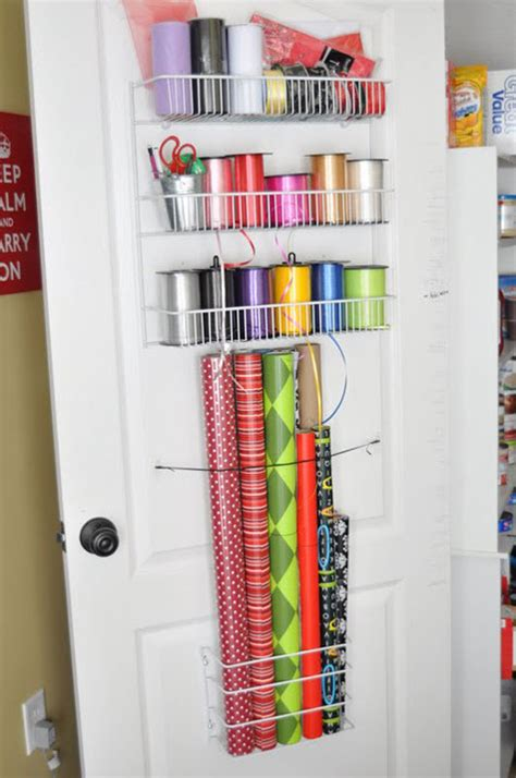 storage for gift wrapping paper gift wrap organization ideas inspiration
