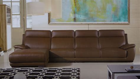 Taupe Leather Sectional by Veneto Taupe Leather Modern Sectional Set