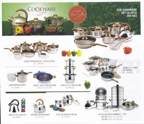 Oxone 933 Panci Eco Cookware Set Packing Kayu Sp peralatan masak oxone ox 933 panci classic cookware set